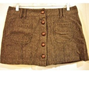 American Eagle Outfitters Wool Blend Mini Skirt